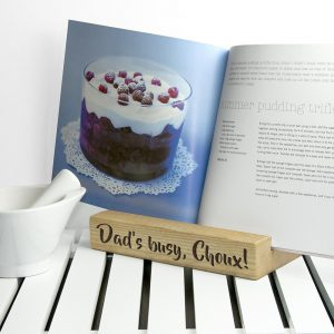 Personalised Single Kitchen Recipe Book or Tablet Holder